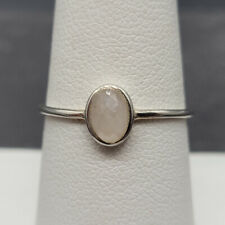 Vintage 925 Sterling Silver Ring With Clear Quartz Size 7.5