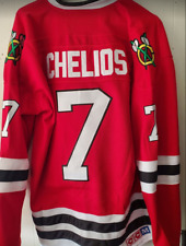 NWT Chris Chelios Chicago Blackhawks Throwback Jersey CCM Size Medium (48)  🔥