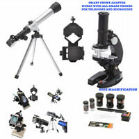 TELESCOPE FULL TRIPOD LUNAR AND FOR STAR OBSERVATION + MICROSCOPE +PHONE MOUNT