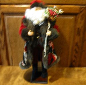 "Santa Figurine #9318 ST. NICK, 20"" high, New from Retail Store"