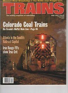 Trains Magazine Railroading July 1994 Colorado Coal Battle over Freight cars