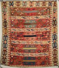 Antique rare 19th century Eastern Anatolian Turkish hand-woven kilim fragment.