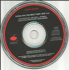 ANITA BAKER Giving you the Best that I got PROMO Radio DJ CD single USA 1988