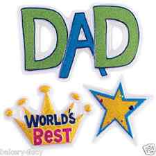 NEW WORLD'S BEST DAD POP TOP LAYON HAPPY FATHERS DAY CAKE TOPPER CUPCAKE