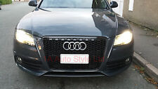 Gloss Black honeycomb mesh car grill for Audi A4 B8 S4 2008-2012 RS4