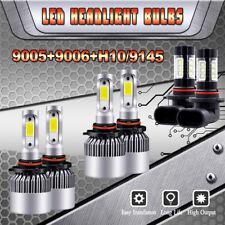 9005 9006 LED Headlight Kit + 9145 Fog Light For GMC Sierra 1500 2500 3500 03-06