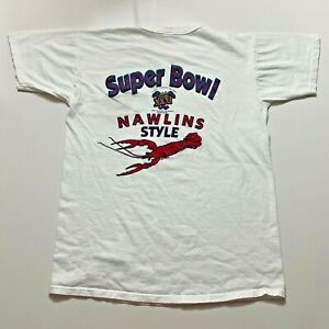 Vintage 1996 Super Bowl XXXI T-Shirt Youth Size XL White Louisiana Made In Usa