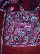 Vera Bradley Womens Pink Flower Shoulder Bag