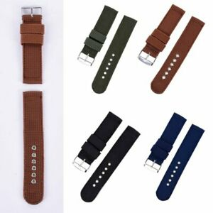 Military Army Fabric Canvas Nylon Watch Strap Buckle Band Replacement for Watch