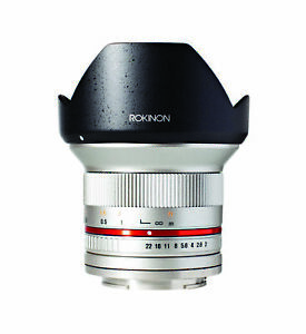 Rokinon 12mm F2.0 High Speed Wide Angle Lens (Fujifilm X Silver)