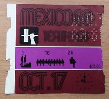 Tickets Olympic Games 1968, Mexico, weightlifting