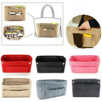Women Organizer Handbag Felt Travel Cosmetic Bag Insert Liner Purse Pouch Wallet