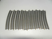 F37) 10 rails laiton courts courbes 1701 FLEISCHMANN R= 415 train electrique HO