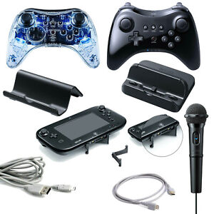 Nintendo Wii U Zubehör Controller Mikrofon Ladestation HDMI Kabel