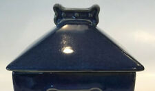 New listing Dog House Treat Cannister Lid Only Blue Ceramic My Best Friend Replacement