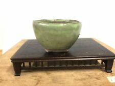 Green Glazed Shohin Or Accent Size Bonsai Tree Pot Tofukuji Jr.  3""