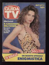 GUIDA TV MONDADORI 27/1992 ALBA PARIETTI FILM TELEFILM TELENOVELAS QUIZ SPORT
