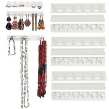 9pcs Adhesive Wall Mount Jewelry Hooks Holder Storage Set Organizer Display
