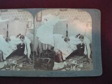 Stereoview Underwood & Underwood 7028 That Pesky Rat Again Copyright 1900 (O)
