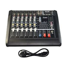 2000 Watts 6 Channel Professional Powered Mixer Power Mixing Console Amplifier