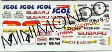 DECALS SUBARU IMPREZA WRX RALLY MONTECARLO 1996 BEGUIN 1/43 RACING43 RACING 43