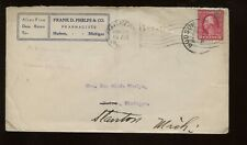 Us Advertising Cover (Pharmacists) 1910s Traverse City, Michigan to Stanton Mich