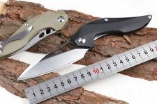 9'' New CNC D2 Steel Blade Fast Opening  G10 Handle Pocket Folding Knife DF97