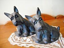 Vintage Cast Iron Pair Of Scottie Scottish Terrier Bookends Or Doorstops