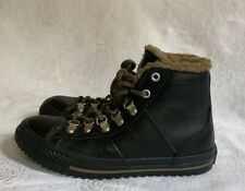 Converse Winter Faux Fur Lined Black Leather Boot Size US 4/EU 36 632530C
