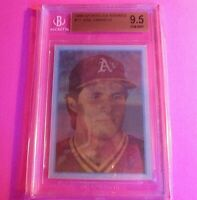 1986 Sportflics Rookies #11 Jose Canseco RC BGS 9.5 Rookie Gem Mint Oakland A's