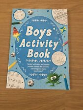 Boy's Activity Book Creative Fun Learning, crosswords, dot-to-dot, colouring