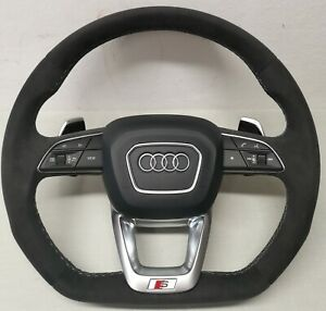 Audi Lenkrad Abgeflacht Sline S RS Q3 Q5 Q7 Q8 A3 A4 A5 A6 A7 ALCANTARA