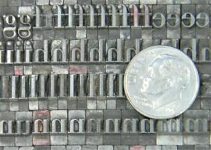 Vintage Alphabets Letterpress Printing Type   24pt Garamond   MN53  10#