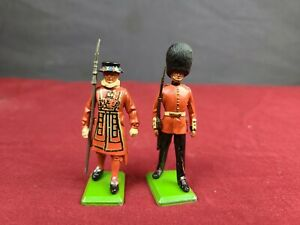 Vintage Lot of 2 Britains Ltd British Buckingham Palace Guards Toy Soldiers
