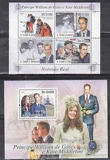 St Thomas & Principe 2368-69 Prince William and Kate Middleton Mint NH