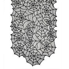 * Gótico Negro Encaje Spider Web corredor de la tabla decoración para fiesta de Halloween Haunted *