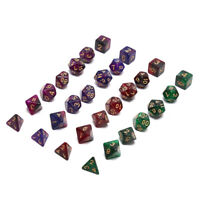 7pcs/Set Digital dice Game Polyhedral Multi Sided Acrylic 3-