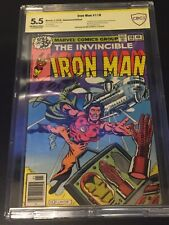 Iron Man #118 CBCS 5.5 SIGNED BY BOB LAYTON 1ST James Rhodes War Machine CGC