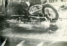 France Aviation Airplane Crash Wreck Engine Wheels old Photo 1914-1918