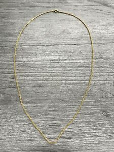 10k Yellow Gold Flat Link Cable Chain