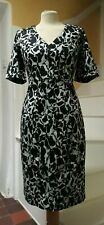 Great Plains fitted V neck peppermint black and white cotton dress XL bnwt