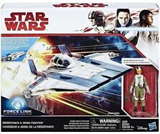 STAR WARS TLJ A WING FIGHTER WITH RESISTANCE PILOT TALLIE FIGURE NEW
