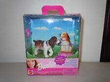 2001 BARBIE BOBBIN' BOW WOWS SPRINGER SPANIEL PUPS MINT IN BOX