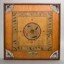 "Antique Wood Archarena Combination Star Game Board Carrom & Checkers 25"" Square"