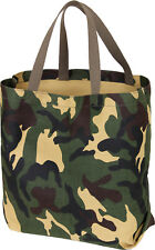 Camo Tote Shopping Bag Shoulder Canvas Reusable Grocery Carry All Military Army