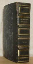 SALFI Résumé de l'histoire de la littérature italienne Janet 1826 relié veau