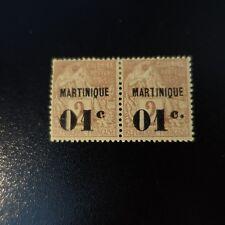 """FRANCE COLONIE MARTINIQUE N°7 VARIÉTÉ SANS POINT APRES """"C"""" NEUF * COTE MAURY 86€"""