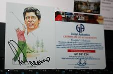 Lee Trevino Autographed Golf Sports Card & COA  US Open Champion Championship