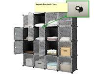 Cube Storage Closet Home Organizer Magnetic Door Latch / Lock