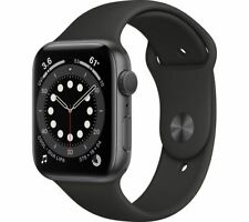 APPLE Watch Series 6 Space Grey Aluminium with Black Sports Band 40mm - Currys